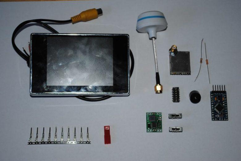 """3,5"""" Monitor mit integriertem 5,8 Ghz 32CH Empfänger und Scanner"""