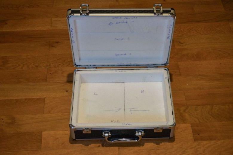Koffer mit Styropor auskleiden