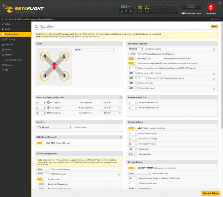 F3 Evo Betaflight Software