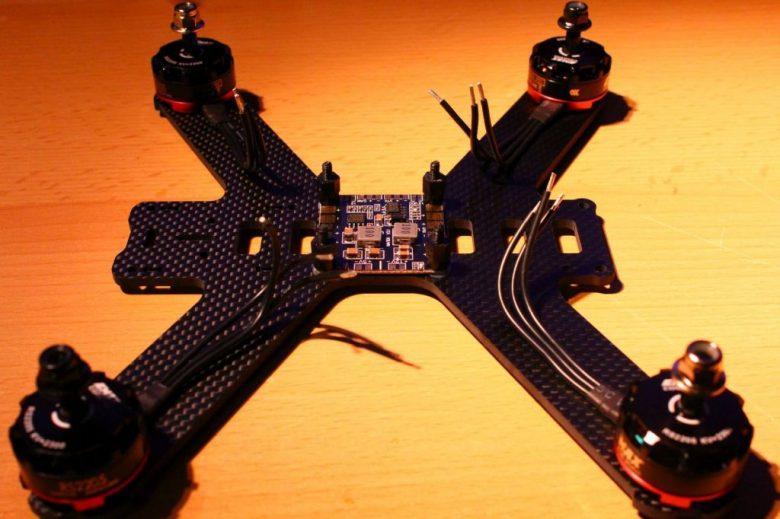 Rahmen mit Motoren