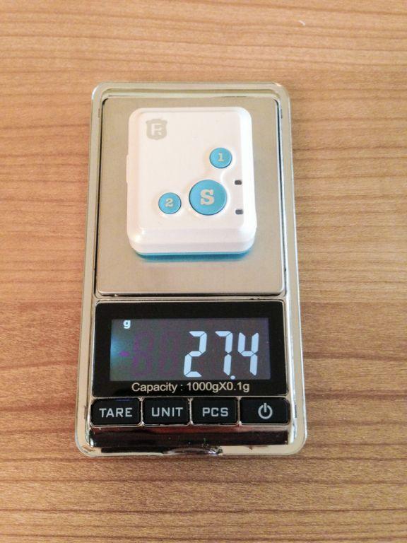 Gewicht des RF-V16 27,4 Gramm