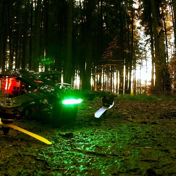 ZMR 250 mit LED zwischen den Platten