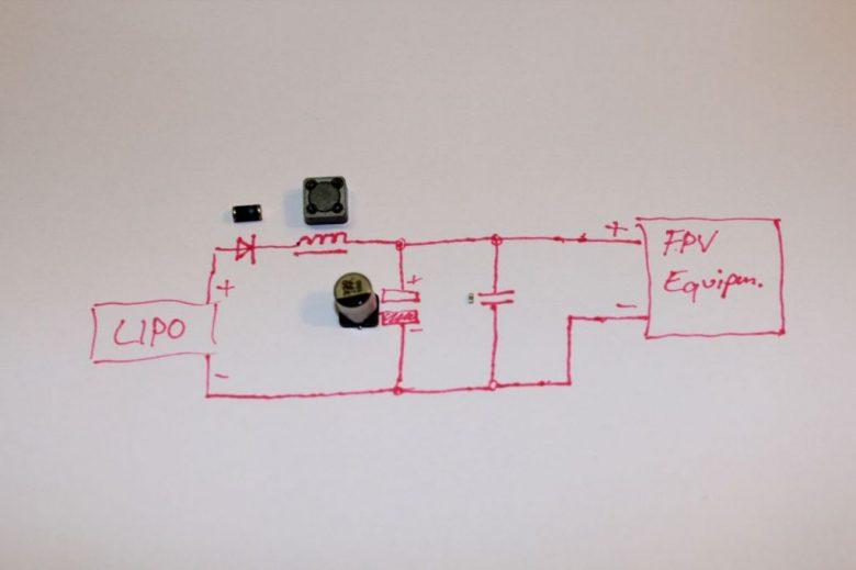 Schaltplan des Micro LC-Filters