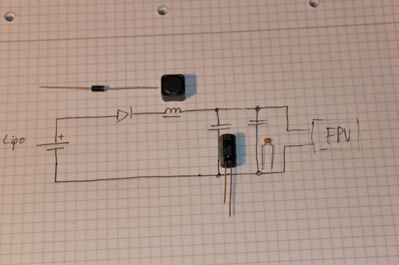 Schaltplan 3S und 4S LC-Filter gegen Streifen und Störungen im Bild
