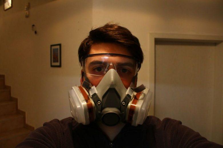 Florian hinter der Maske