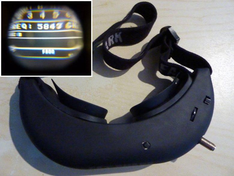 Fertige Brille mit eingebauten RX5808 Projekt