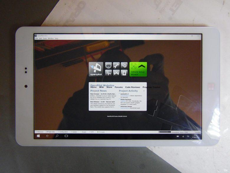 Chuwi Tablet Display von oben