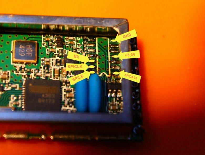 Fatshark Modul IC Bezeichnung BX SPICLK SPILE SPIDATA