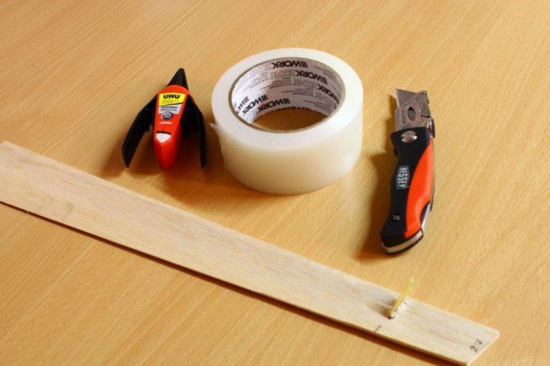 Material für die Rudermontage