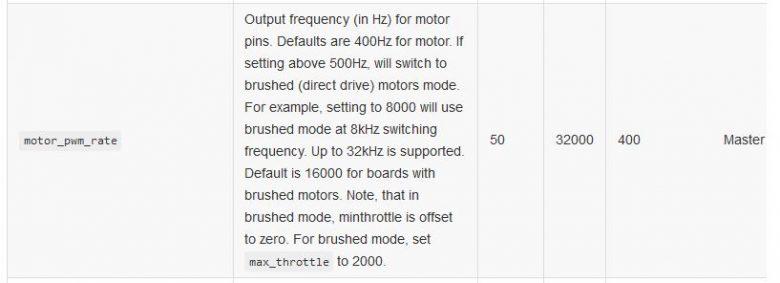 Motor PWM Rate