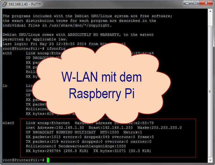 Wlan einrichten auf dem Raspberry Pi