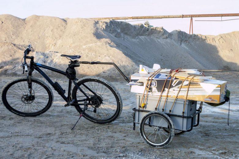 Fahrrad mit Fahrradanhänger