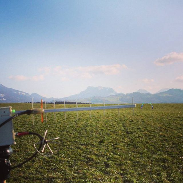 24 ghz groundstation in front of the hills at bavariahellip