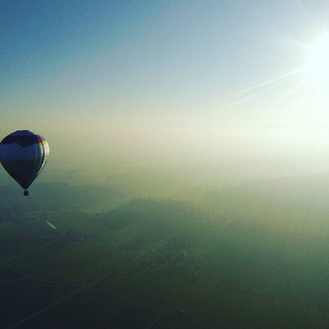 Awesome view! balloons sun   STOP DRIVING START FLYINGhellip